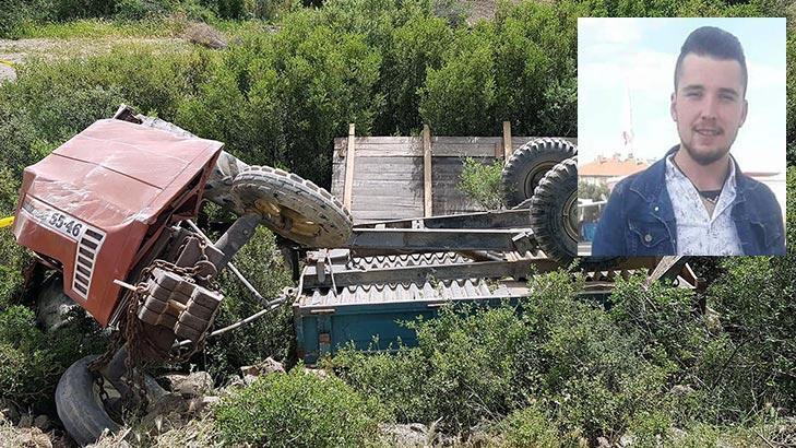 Devrilen traktörün altında feci şekilde can verdi!