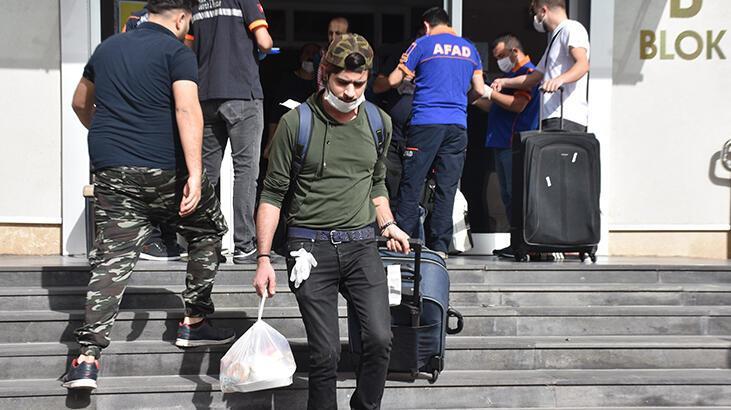 Malatya'da karantina süreleri dolan 170 kişi, memleketlerine uğurlandı