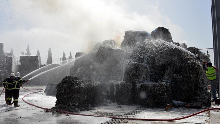 Kahramanmaraş'ta koru dolu anlar! Kağıt fabrikası alev alev yandı