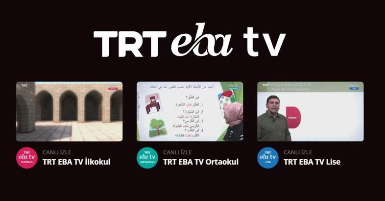EBA TRT canlı yayın izle | EBA ders programı 20 Mayıs Çarşamba