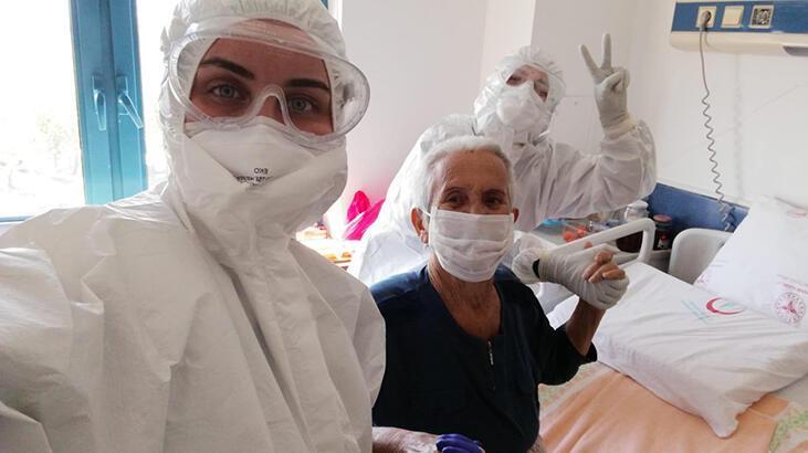 Kocasını kaybettiği corona virüsü 38 günde yendi