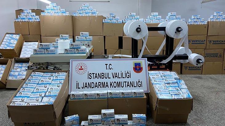 Son dakika: İstanbul'da 800 bin maske ele geçirildi