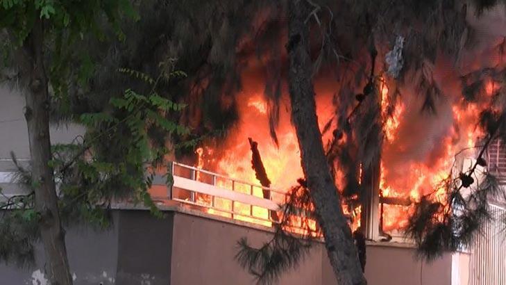 Şanlıurfa'da yangın! Daire alev alev yandı