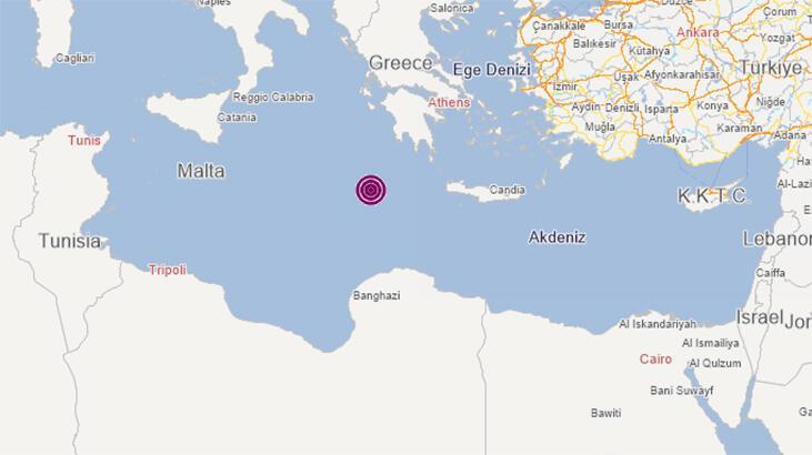 Son dakika... İyon Denizi'nde şiddetli deprem