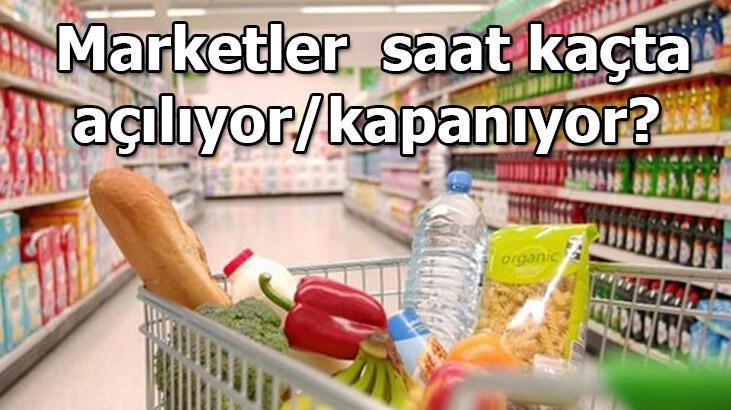 Marketler saat kaçta açılıyor? 22 Mayıs marketler bugün saat kaça kadar açık olacak? BİM, A101, ŞOK, Carrefour, Migros çalışma saatleri