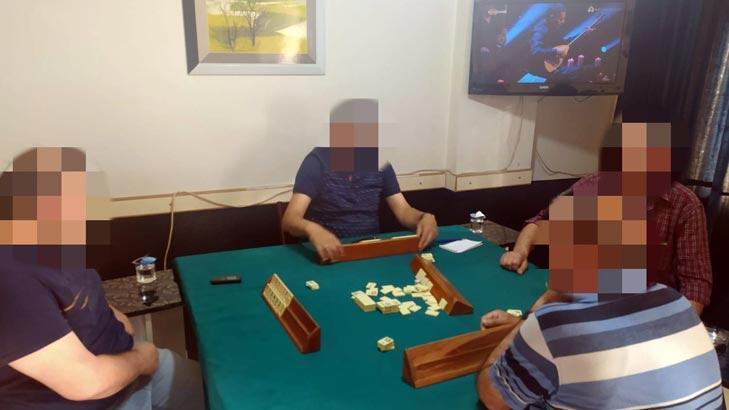 Edirne'de 4 kişi okey oynarken basıldı!
