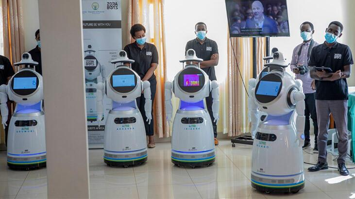 Ruanda'da corona virüse karşı robotlar devrede