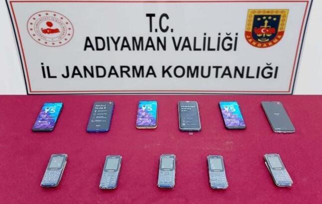 Adıyaman'da kaçak cep telefonuna 2 gözaltı