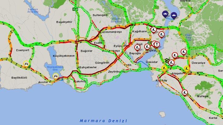 Son dakika: İstanbul'da trafik yoğunluğu yüzde 60'a ulaştı!