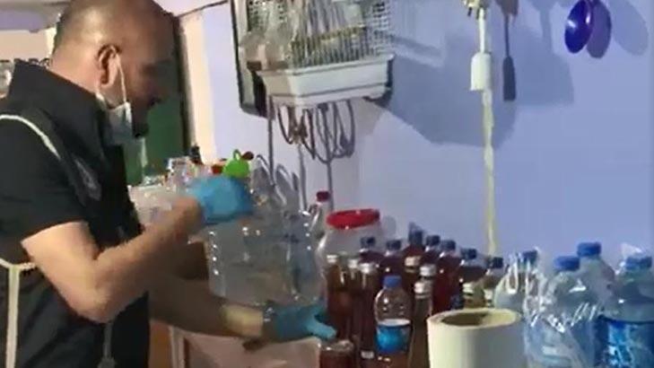 Evi içki imalathanesine çevirmişler!