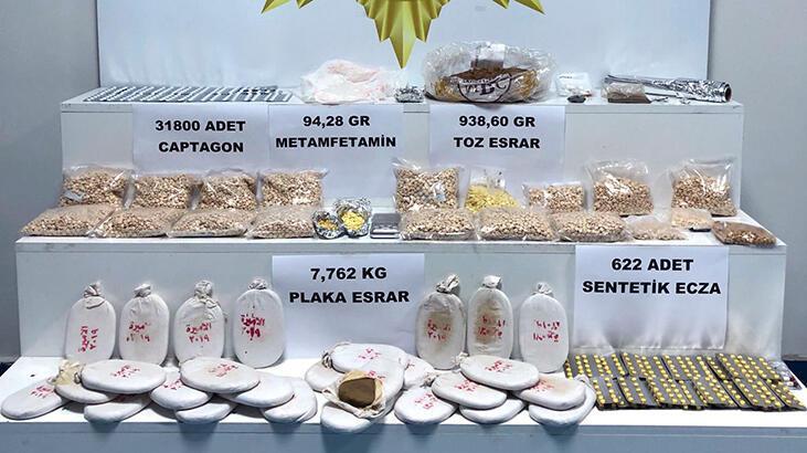 Adana'da ele geçirilen 3 milyon liralık uyuşturucuya 2 tutuklama