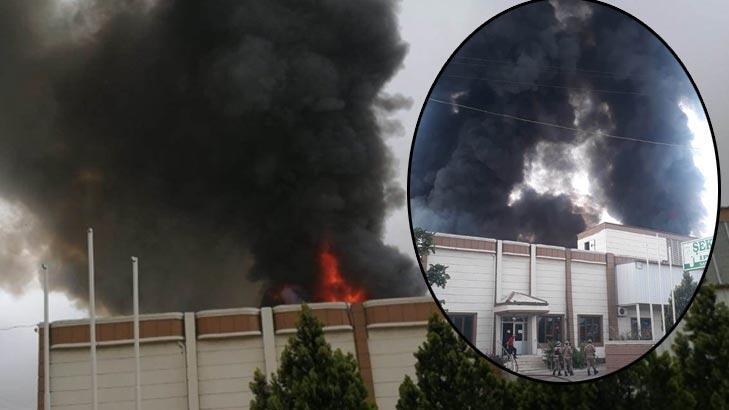 Son dakika! Şanlıurfa'da iplik fabrikasında yangın!