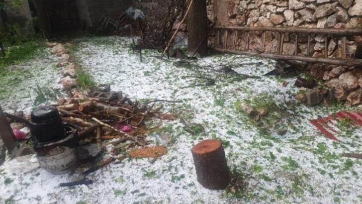 Kahta'da tarım arazilerini etkileyen yağışın ardından hasar tespit çalışmaları başladı