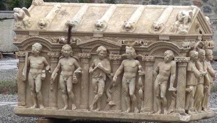 Bursa'da Troya Savaşı'nı anlatan lahit