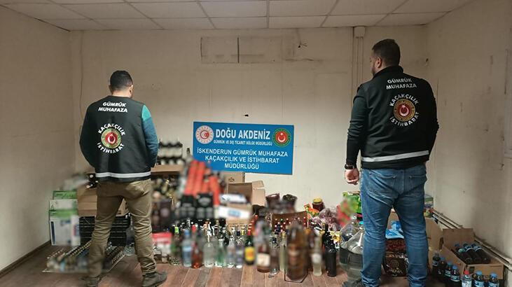 İskenderun'da 668 litre sahte içki ele geçirildi