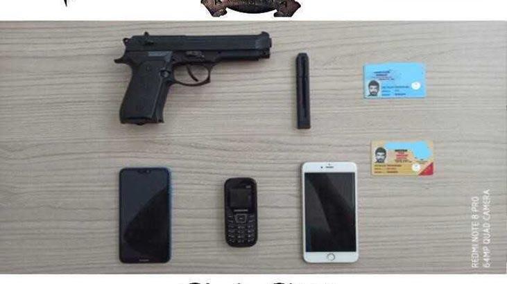 Sahte polis kimliği ve silah ile yağma!