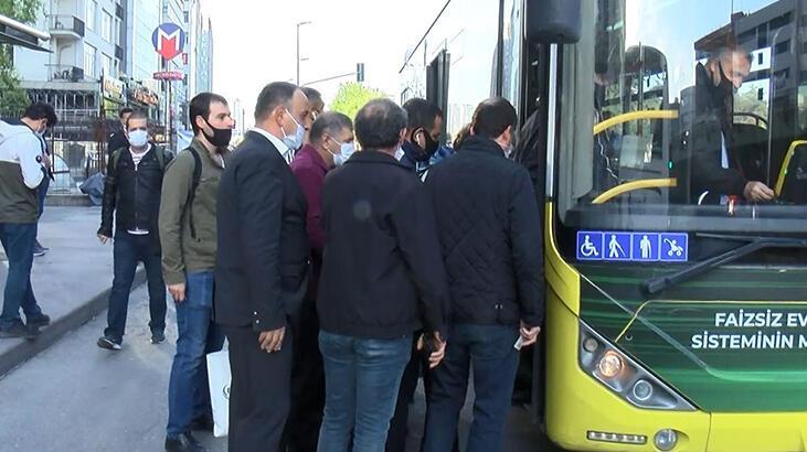 İstanbul'da yollar boş ama... Vatandaşın otobüs isyanı!
