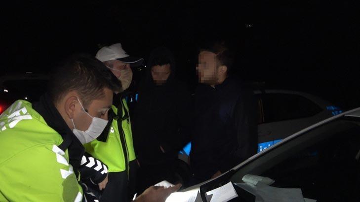 Stajyer ehliyetle polise alkollü yakalanan gençten ilginç tepki! Yaktınız beni