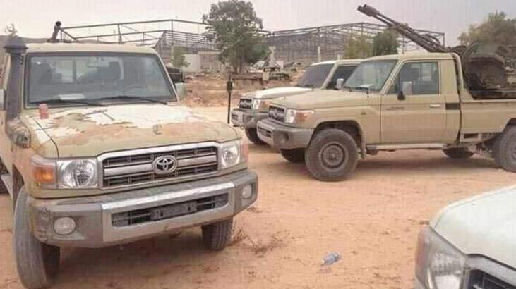 UMH birlikleri, Mitiga Havaalanı çevresinde Hafter'e ait askeri araçları imha etti