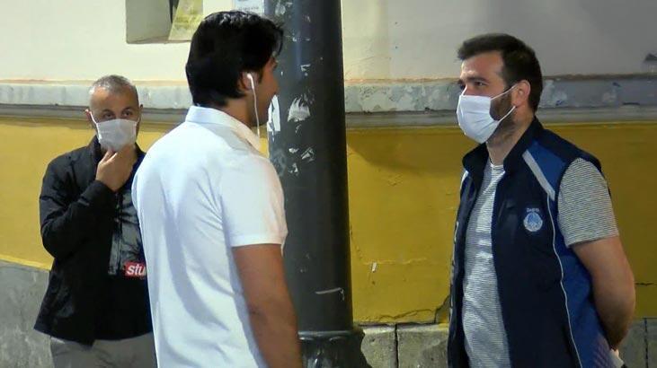 Maske takmayanlar İstiklal Caddesi'ne alınmadı