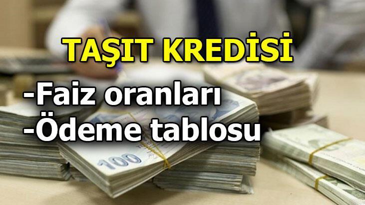Taşıt kredisi faiz oranları - Taşıt kredisi hesaplama : Ziraat bankası, Vakıfbank,  Halkbank haberleri
