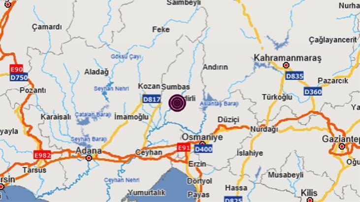 Son dakika | Osmaniye'de 4.0 büyüklüğünde deprem