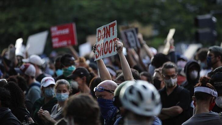 Washington'daki George Floyd protestoları önceki günlere göre sakin geçti
