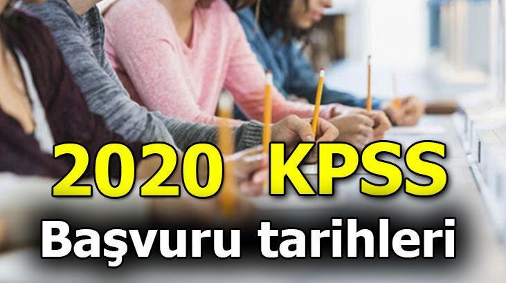 KPSS başvuruları ne zaman başlıyor, kaç gün sürecek? KPSS 2020 sınav tarihleri