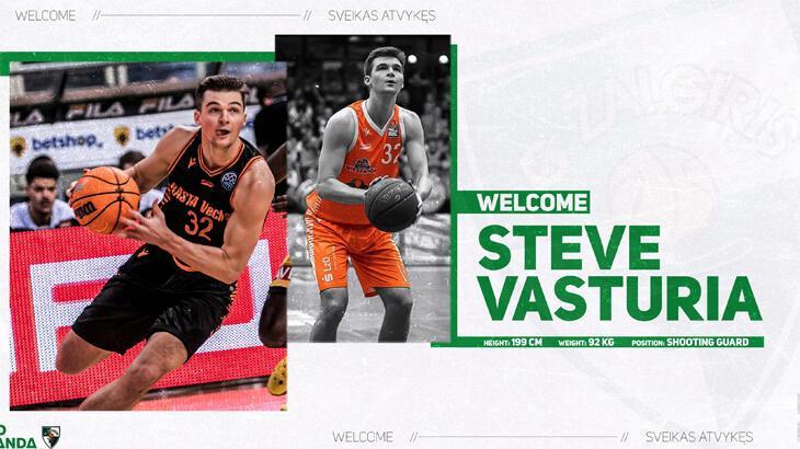 Zalgiris, ABD'li basketbolcu Steve Vasturia'yı kadrosuna kattı