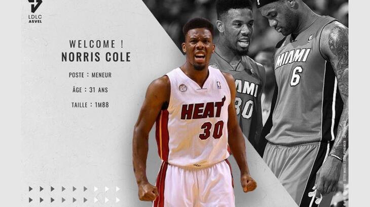ASVEL, ABD'li basketbolcu Norris Cole ile anlaştı