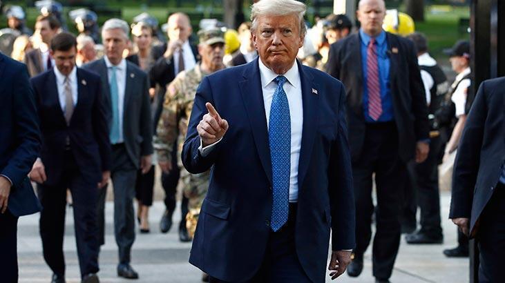 Trump sığınağa indiğini kabul etti: Teftiş için...