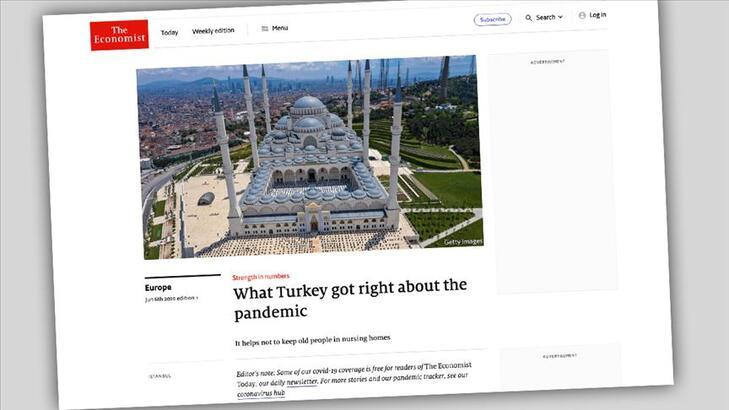 Economist dergisi Türkiye'nin corona virüsle mücadele stratejisini övdü