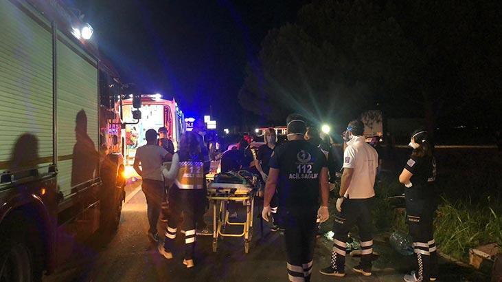 Gece yarısı feci kaza! Yolcu otobüsüyle otomobil çarpıştı