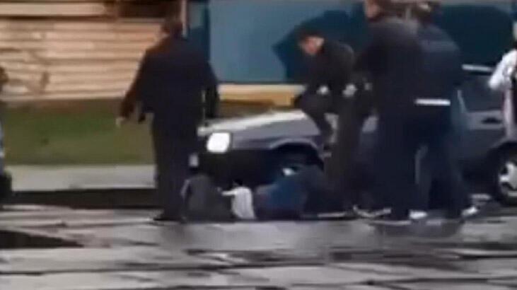 Ukrayna'da yolcular 'maske tak' uyarısı yapan vatmanı dövdü!