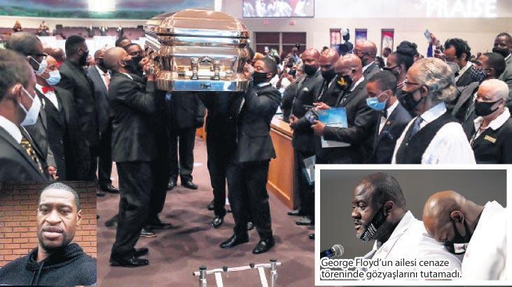 Ölümü dünyayı ayağa kaldıran George Floyd gözyaşlarıyla uğurlandı