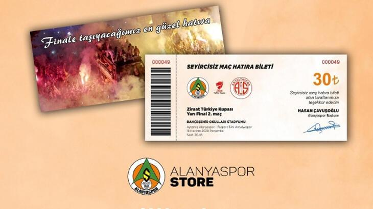 Alanyaspor'dan kupa maçında hatıra bilet uygulaması