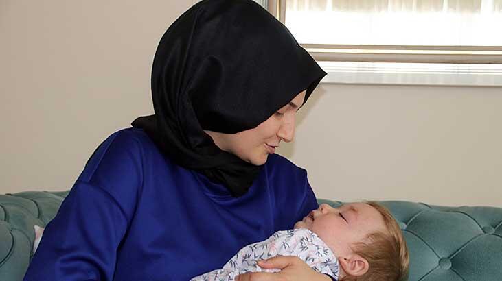 Tek isteği 17 aylık oğlu Resul Hamza'nın iyileşmesi