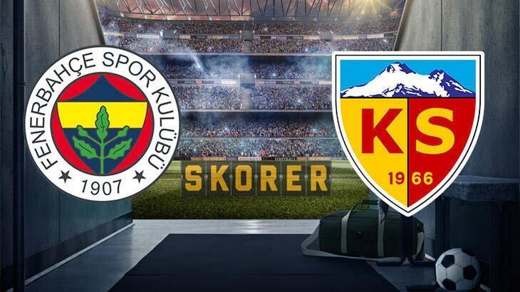 Fenerbahçe - Kayserispor maç sonucu: 2-1