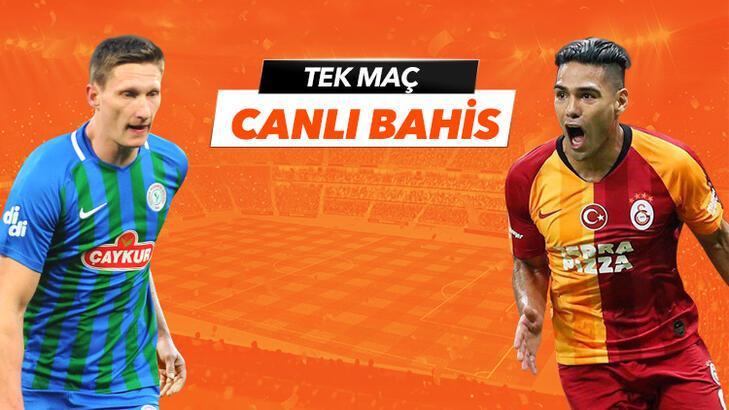 Çaykur Rizespor - Galatasaray maçı Tek Maç ve Canlı Bahis seçenekleriyle Misli.com'da