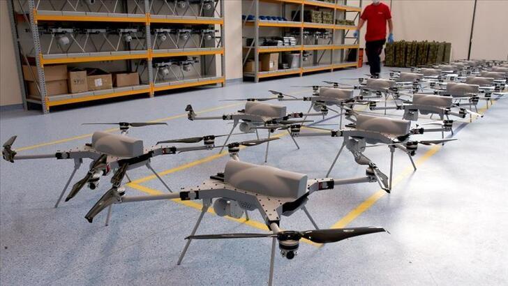 Kamikaze drone üretimini ilk kez görüntülendi