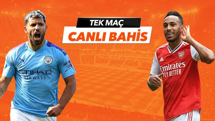 Manchester City - Arsenal maçı Tek Maç ve Canlı Bahis seçenekleriyle Misli.com'da