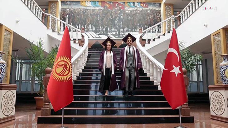 Kırgızistan-Türkiye Manas Üniversitesi'nde online mezuniyet heyecanı