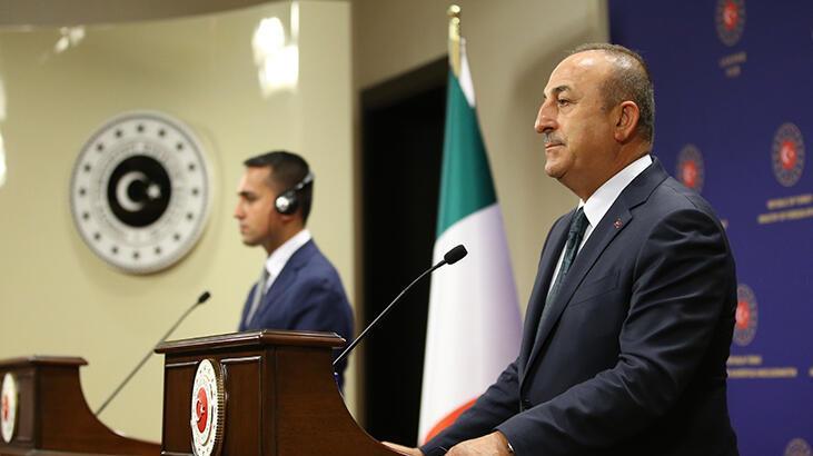 Bakan Çavuşoğlu, İtalyan mevkidaşı ortak basın açıklaması yapıyor