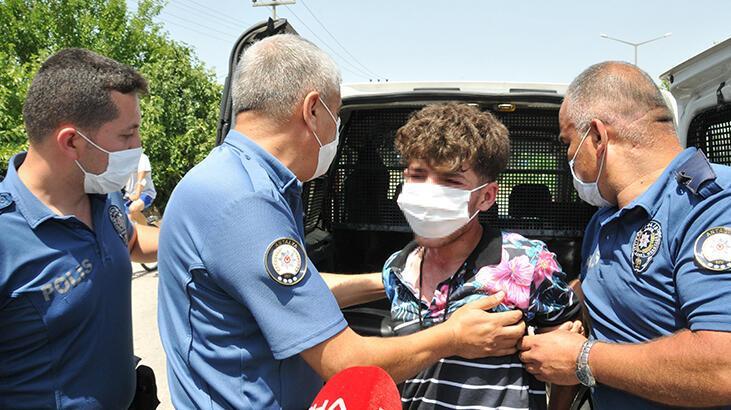 Antalya'da torbacıyı gözaltına alan polise taşla saldırdılar