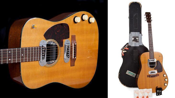 Kurt Cobain'in gitarına rekor fiyat!