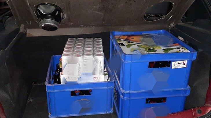 Eskişehir'de otomobilde içki satan 1 kişiye 56 bin lira ceza kesildi!