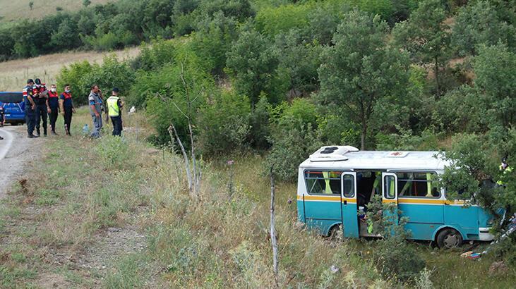 Çanakkale'de işçi minibüsü yoldan çıktı! Çok sayıda yaralı var