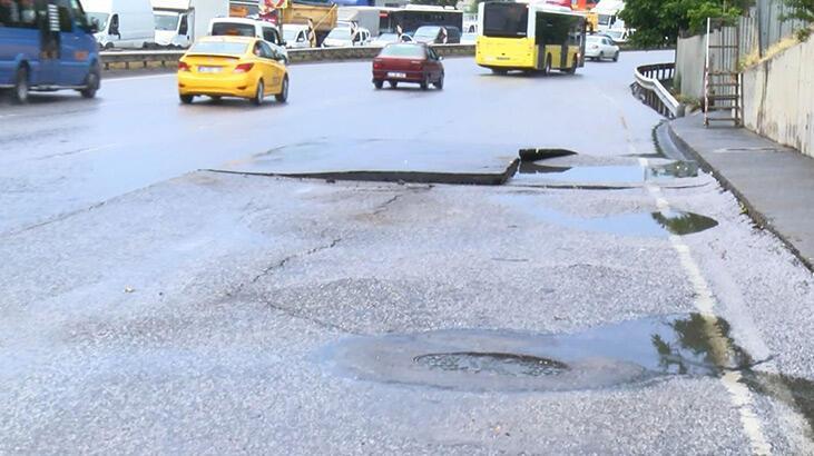 Çekmeköy'de yağış trafiği felç etti
