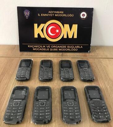 Adıyaman'da kaçak cep telefonuna gözaltı