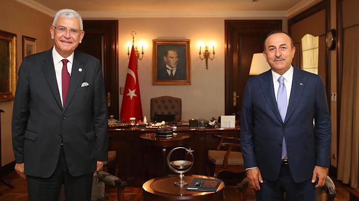 Dışişleri Bakanı Çavuşoğlu, BM Genel Kurul Başkanlığı'na seçilen Bozkır ile görüştü